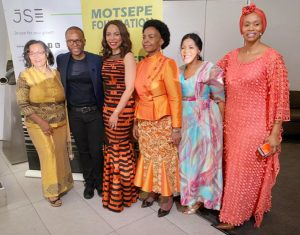 SADC WIB President Shiphra Chisha is with Minister Marie Nkoana-Mashabane and SADC WIB Board Member Dr Namane Magau at the 4th International women's day hosted by the Motsepe Foundation.