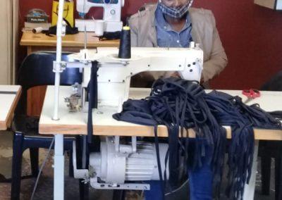 Production of facial cloth masks through women cooperatives