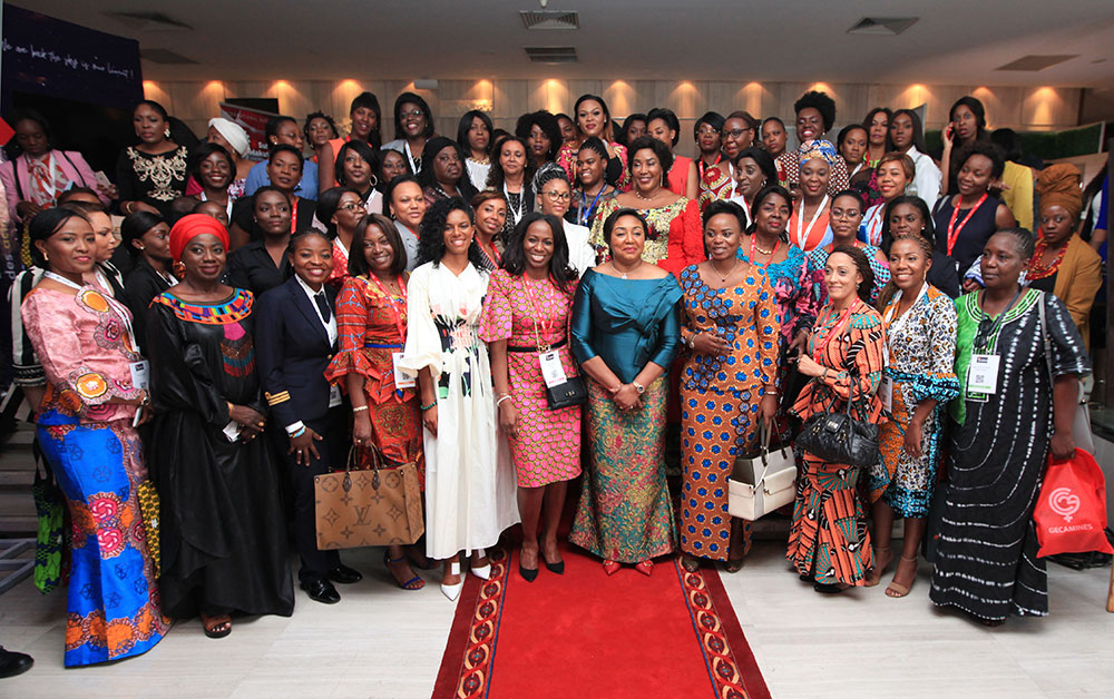 DRC Chapter Head Ms Yvonne Kusuamina, Noella Coursaris, Malaika Foundation founder Ms Nicole Sulu, Makutano Network founder and SADC WIB Advisory Board Member DRC, Denise Nyakeru Tshisekedi, First Lady DRC  Elphine Kakudji, CEO Sokam